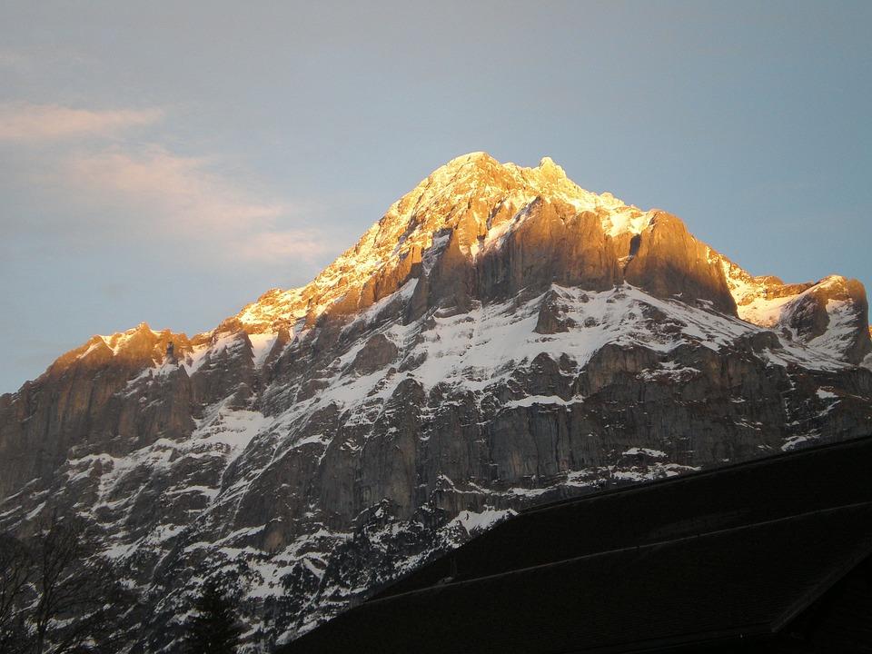 Swiss Alps, Sunset, Switzerland
