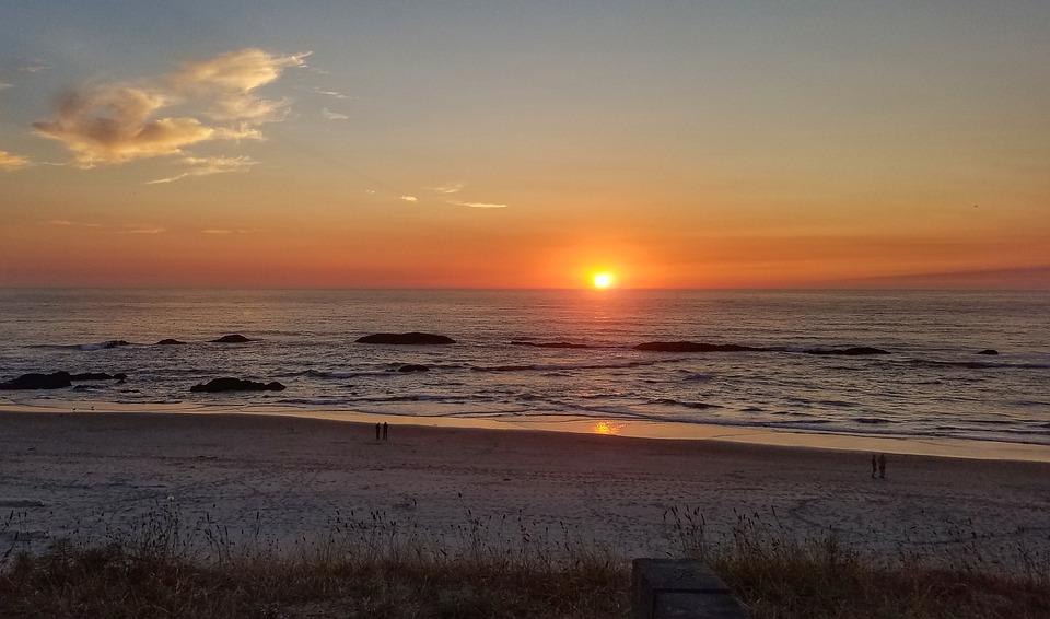 West Coast, Oregon, Sunset, Travel, Tourism, Nature