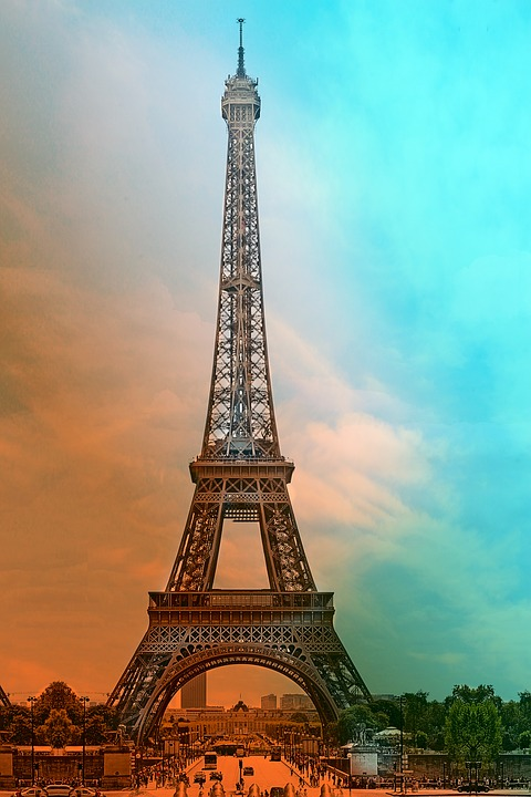 Eiffel Tower, Paris, France, Tower, Sights, Sunset