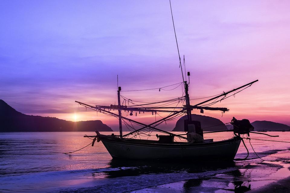 Boat, Nature, Sunset, Silhouette, Sunrise, Travel