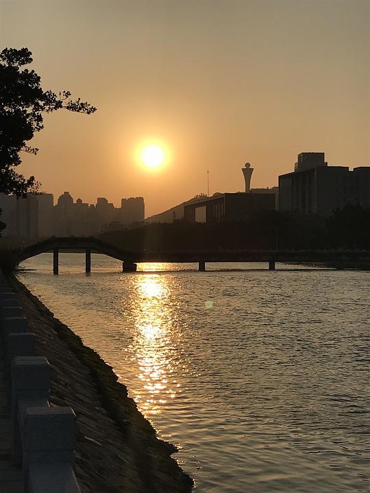 Sunset, Waters, Dawn, Twilight