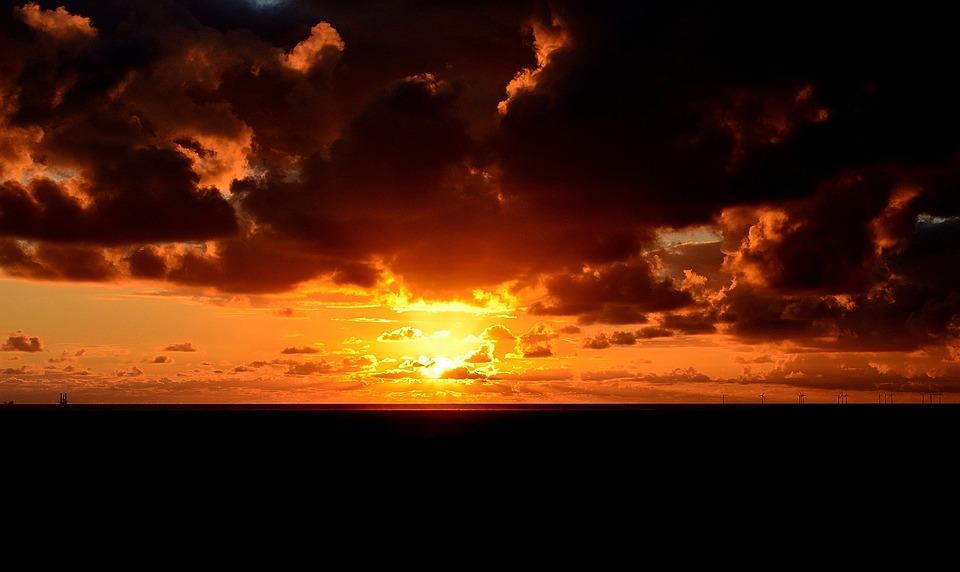 Sunset, Twilight, Evening Sky, Lighting, Mood