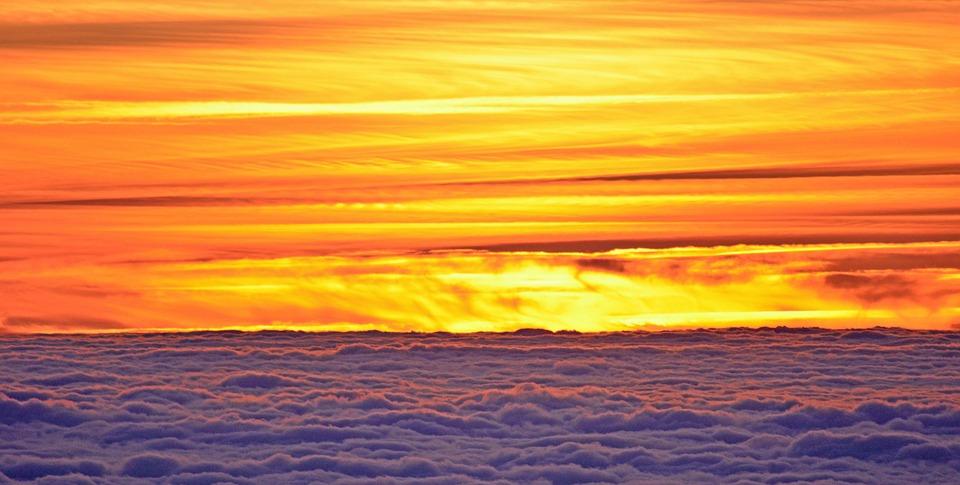 Sunset, Sun, Twilight, Clouds, Colors, Light
