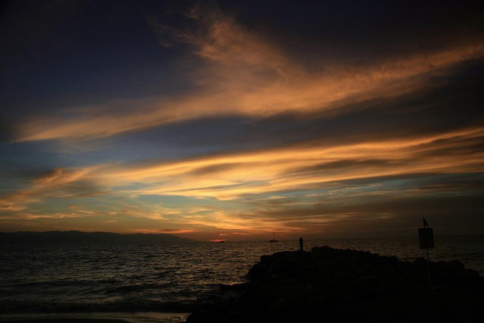 Sunset, Sea, Vallarta, Puesta De Sol, Beach, Water