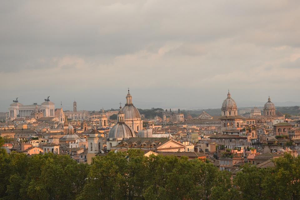 Rome, Venice Square, Sunset, Twilight