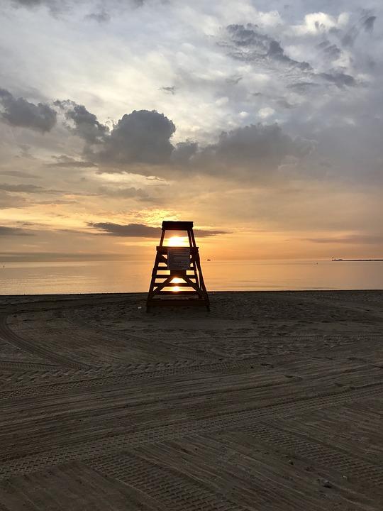 Sea, Water, Sunset, Ocean, Beach, Lake Michigan