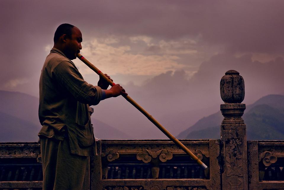 Sunset, Xiao, Buddhist Monk
