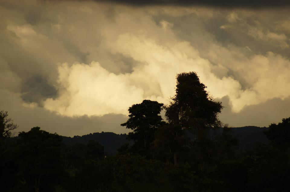 Sunsets, Landscapes, Quindio, Colombia