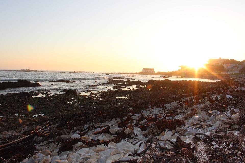 Sunsets, Ocean, Sky, Franskraal, Seaside, Sand, Beach