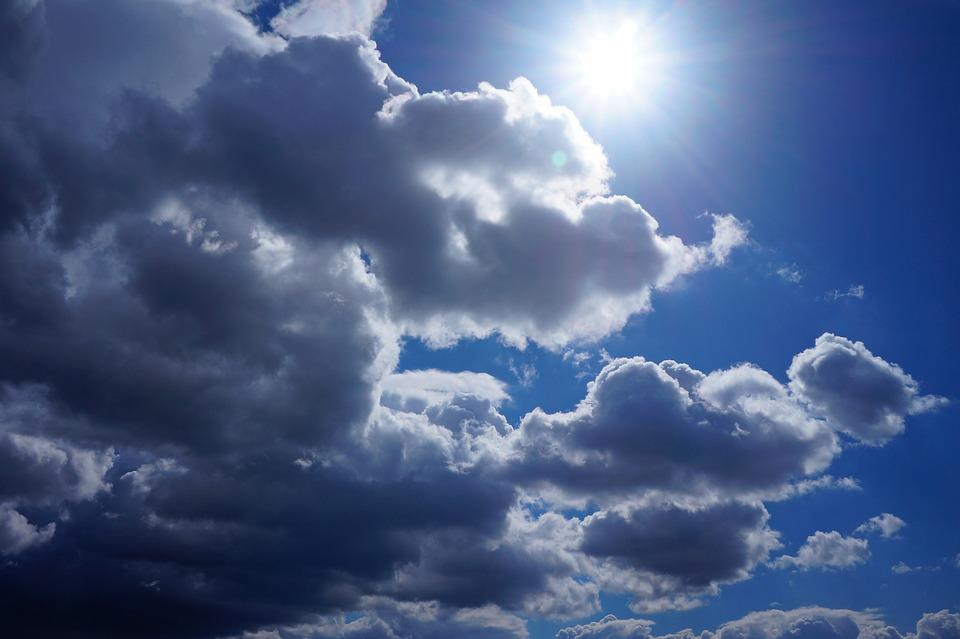 Clouds, Blue, Sunshine, Sky, Light
