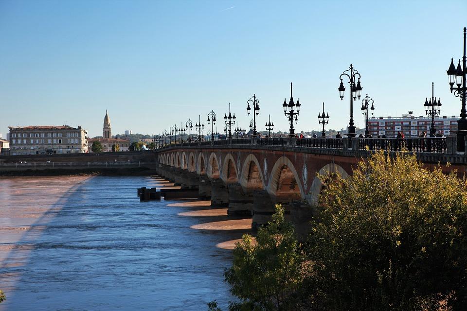 Bordeaux, The Morning Sun, Bridge, Sunshine