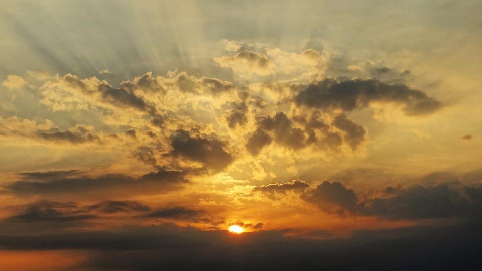 Nature, Eventide, Horizon, Rays Of Sunshine, Sunshine