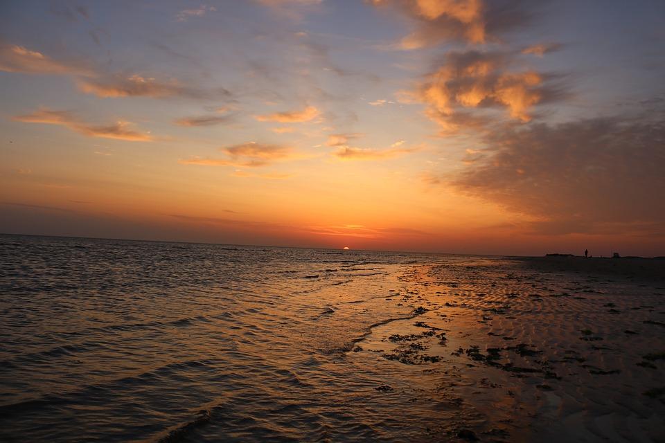 Sunset, Sunrise, Sea, Horizon, Rest, Scenic, Sunshine