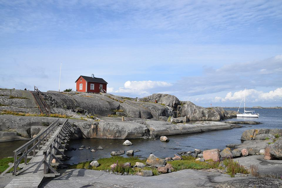 Söderskär, Suomi, Lighthouse, Island, Finland, Summer