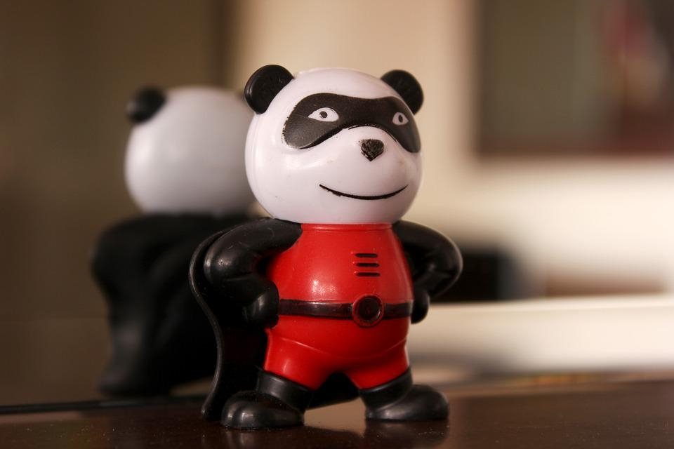 Toy, Super Panda, Panda, Superhero, Cute, Smile, Power