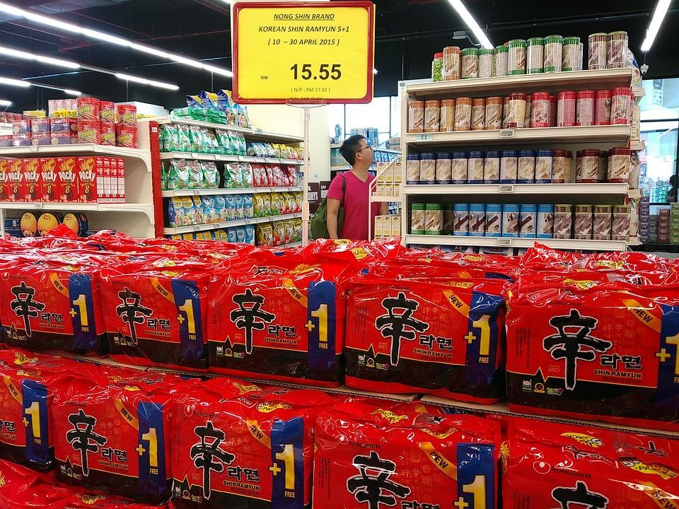 Supermarket, Malaysia, Korean Ramen Noodles