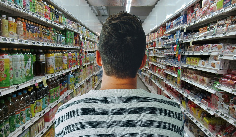Grocery, Store, Man, Shopping, Market, Supermarket