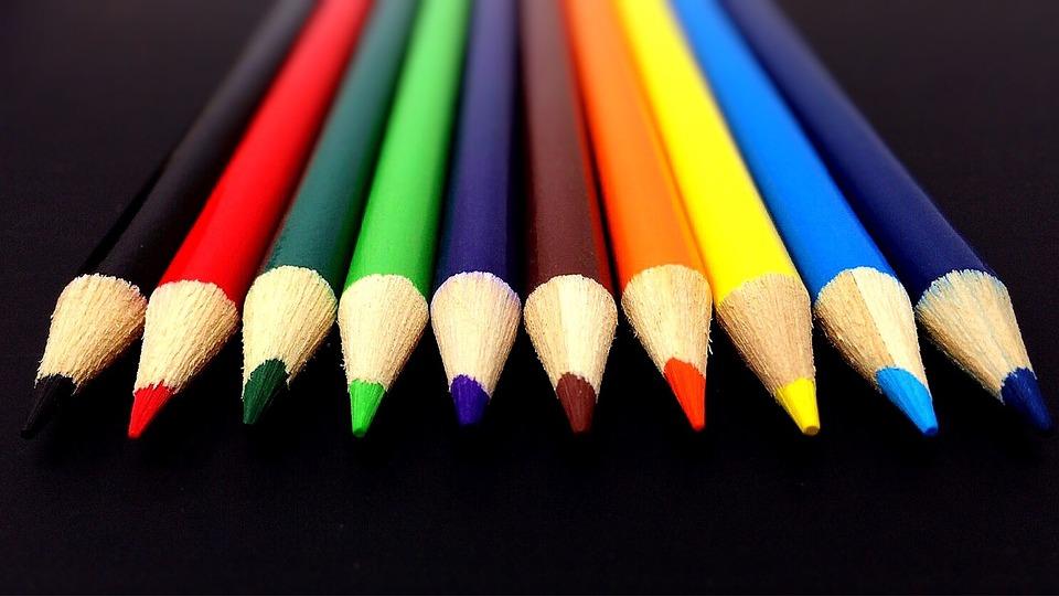 Pencils, Colors, Rainbow, School, Supply