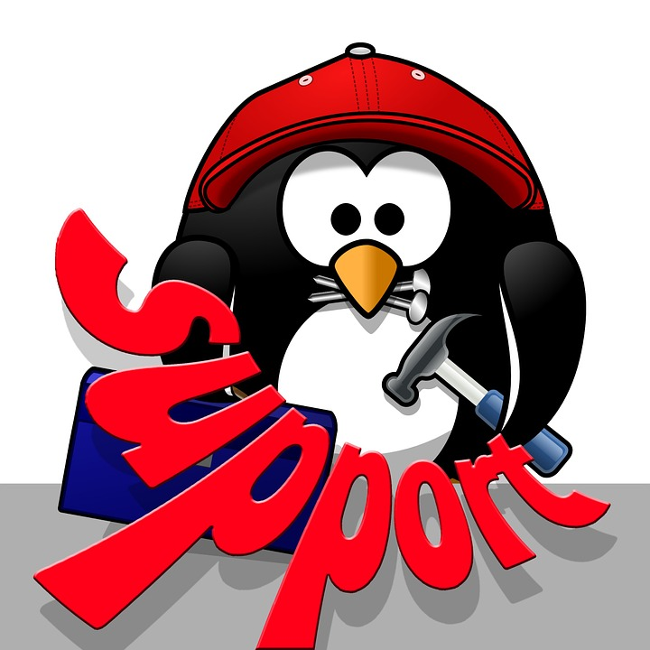 Support, Penguin, Tool, Comic, Tool Box, Hammer