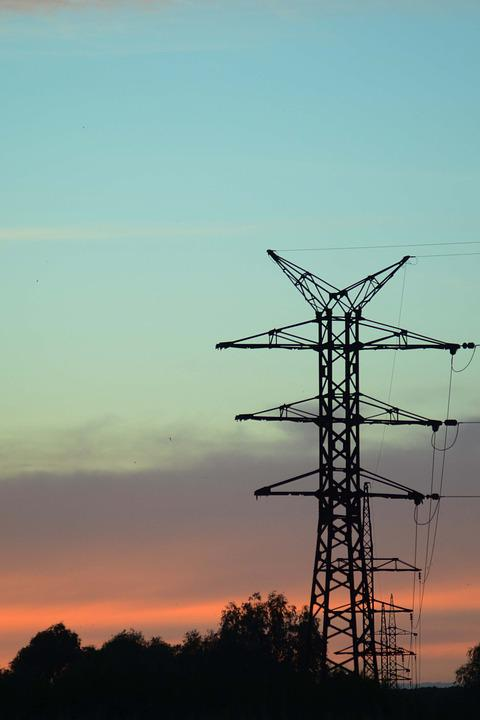 Support, Line, Transmission, Evening, Sunset