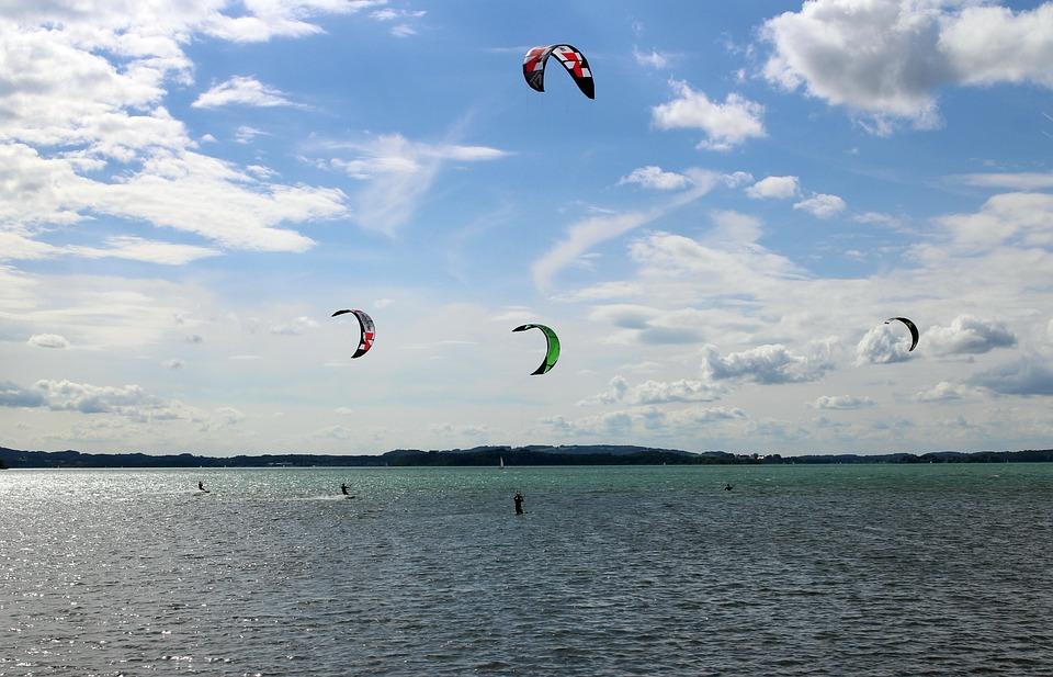 Kite Surfing, Surf, Kitesurfing, Kitesurfer, Sport