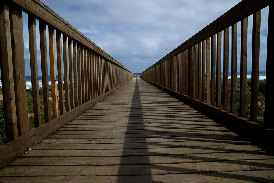 Walkway, Beach, Ocean, Sand, Sun, Surf, Coastline
