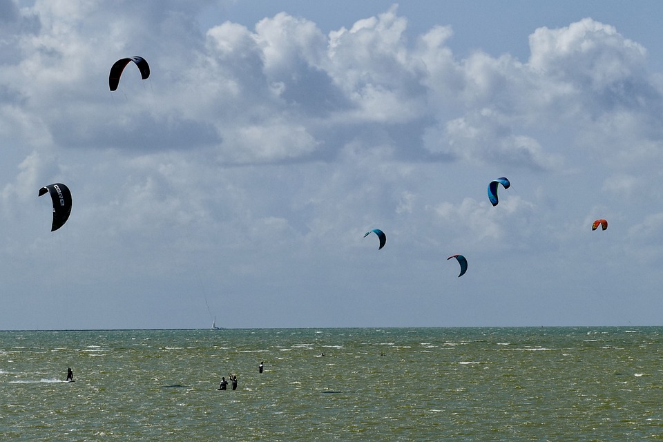 Kitesurfing, Surf, Sports, Sea, Kiteboarding, Wind