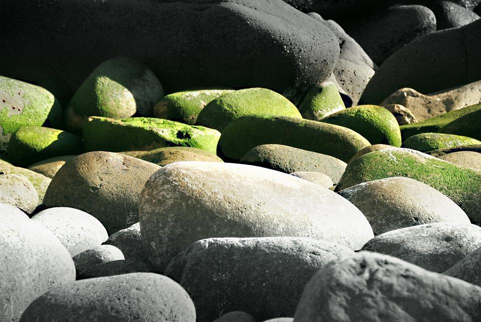 Riesen, Stones, Rock, Pebble, Surf, Sea, Bank