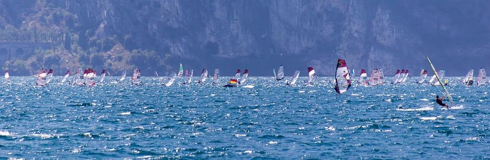 Wind Surfing, Wind, Water, Surf, Holiday, Sport
