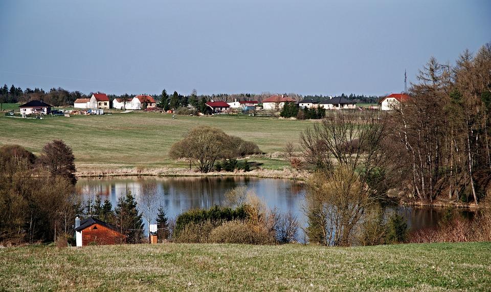 South Bohemia, Water, Pond, Ledenice, Sky, Surface