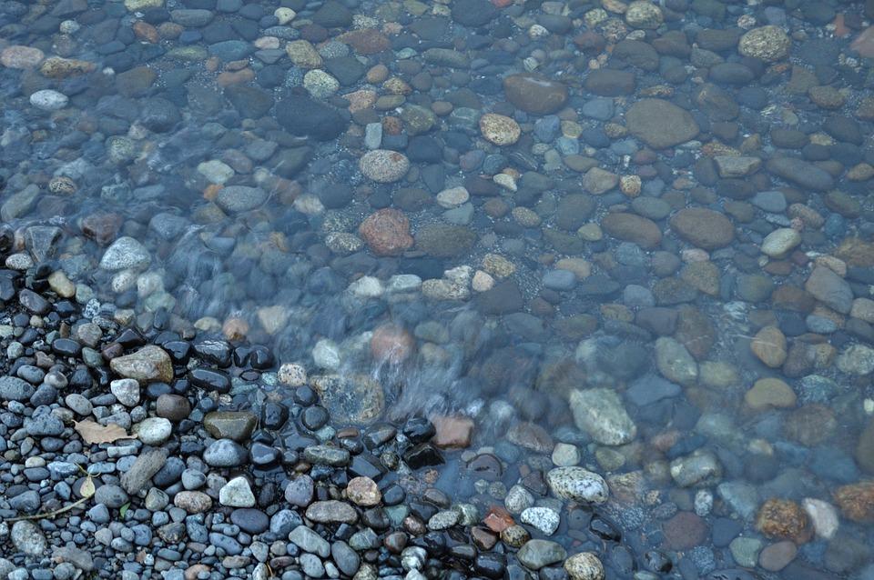 Stones, Water, Lake, Surface