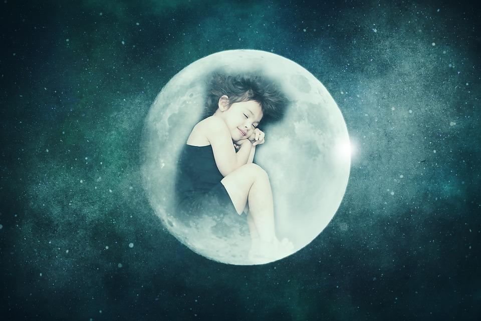 Fantasy, Fairytale, Dream, Surreal, Moonchild, Child