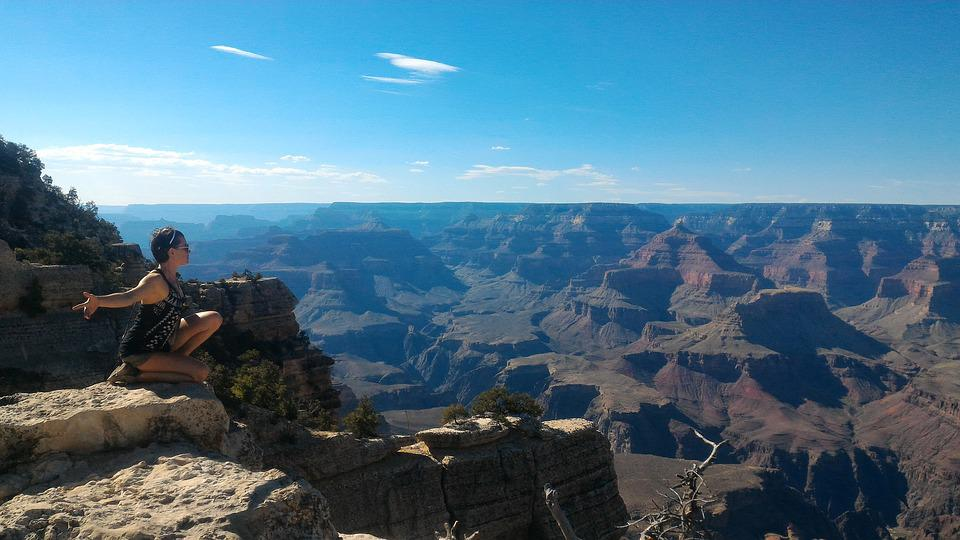 Grand Canyon, Nature, Feminine, Divine, Bird, Surrender