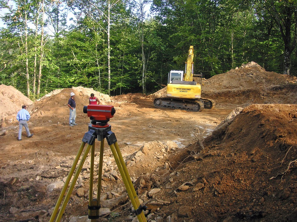 Surveying, Building Site, Theodolite, Builders