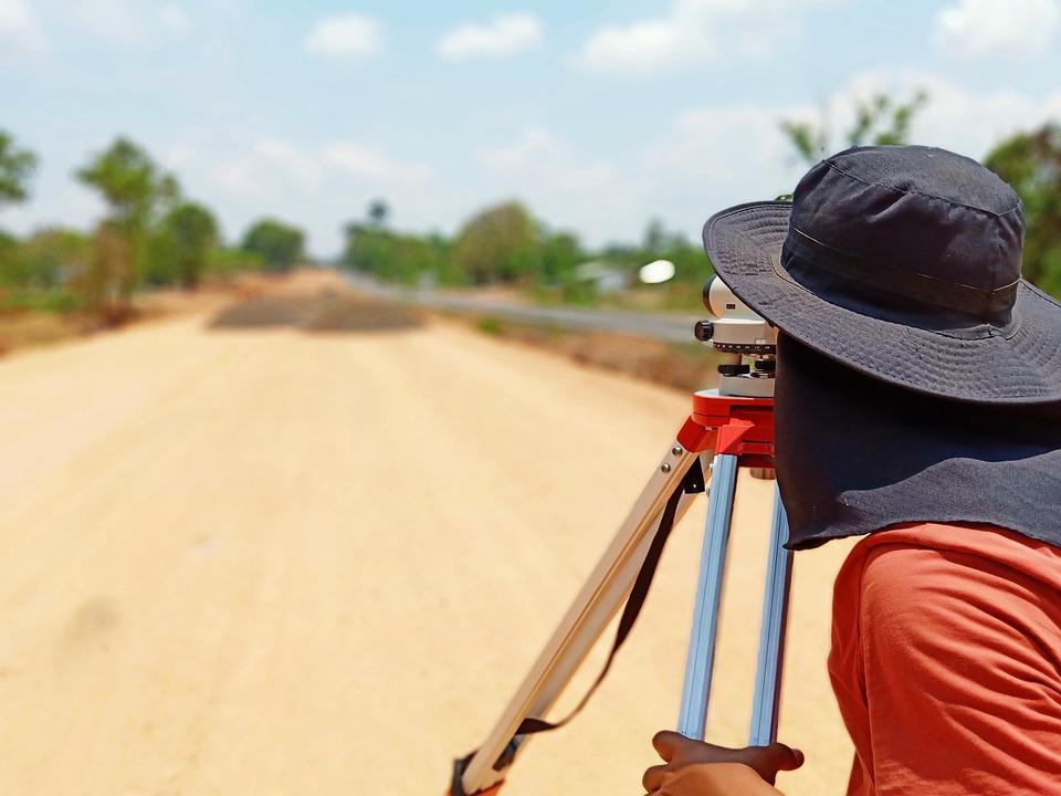 Construction, Surveyor, Road, Surveying, Geodesy