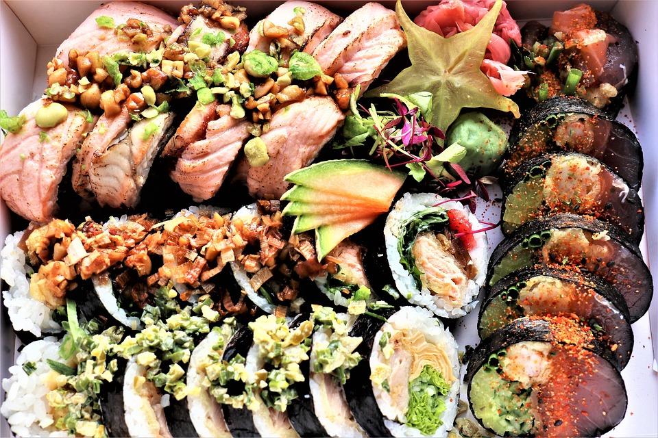 Sushi, Dish, Eating, Healthy, Lunch, Fresh, Asian