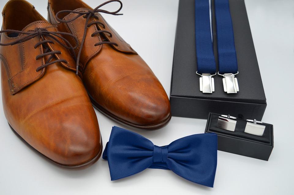 Men's Accessories, Shoes, Suspenders, Fly, Tie