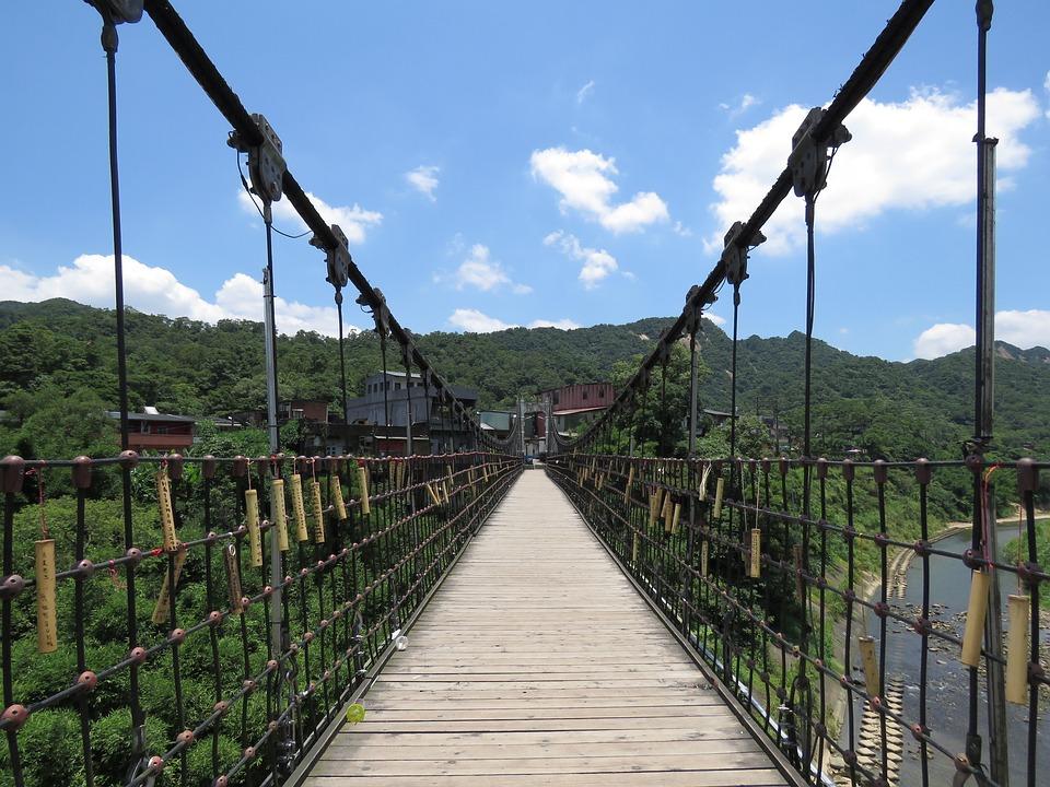 Suspension Bridge, Bridge, Blue Sky, Park