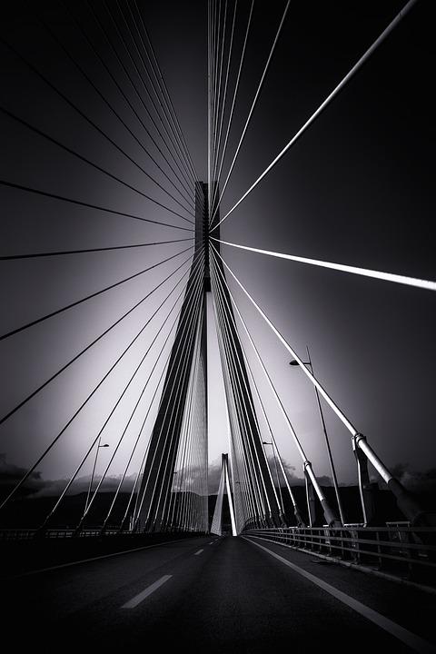 Rio-antirrio Bridge, Suspension Bridge, Bridge