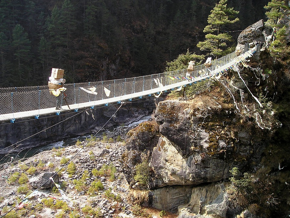Nepal, Himalayas, Everest, Trek, Suspension Bridge