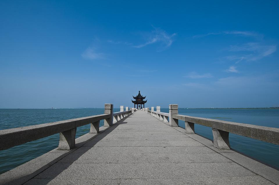Suzhou, Start Garden, Pier, Stone Embankment