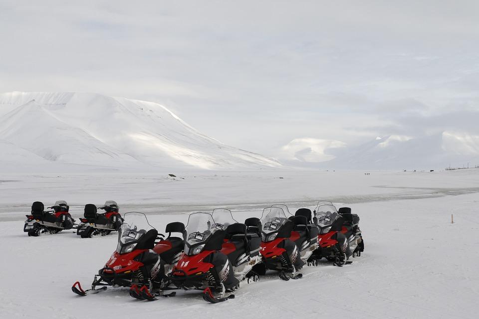 Svalbard, Arctic, Outdoor, Spitsbergen, Snowmobile