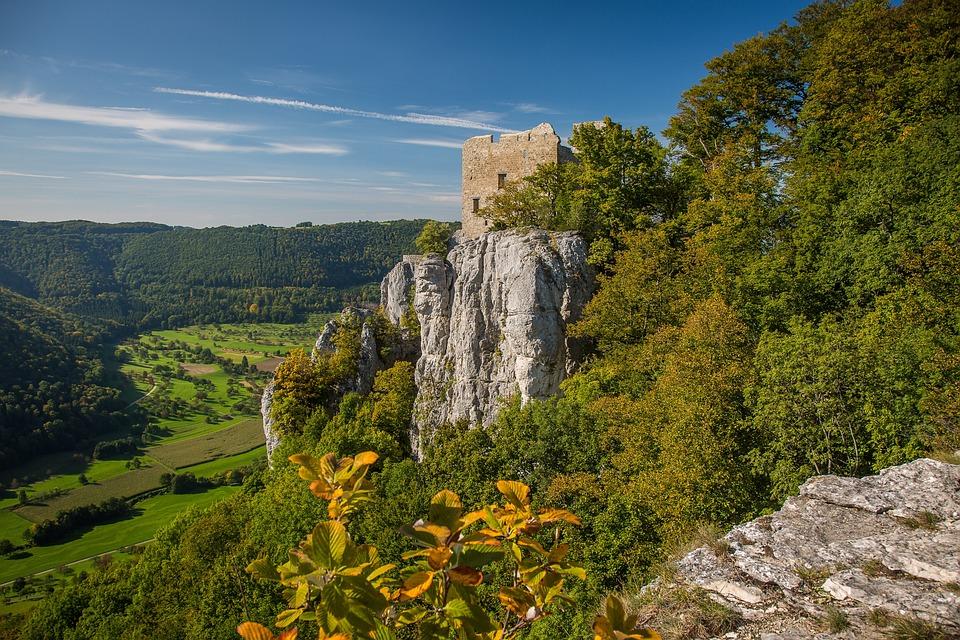 Castle Russias Stone, Reußenstein, Swabian Alb, Ruin