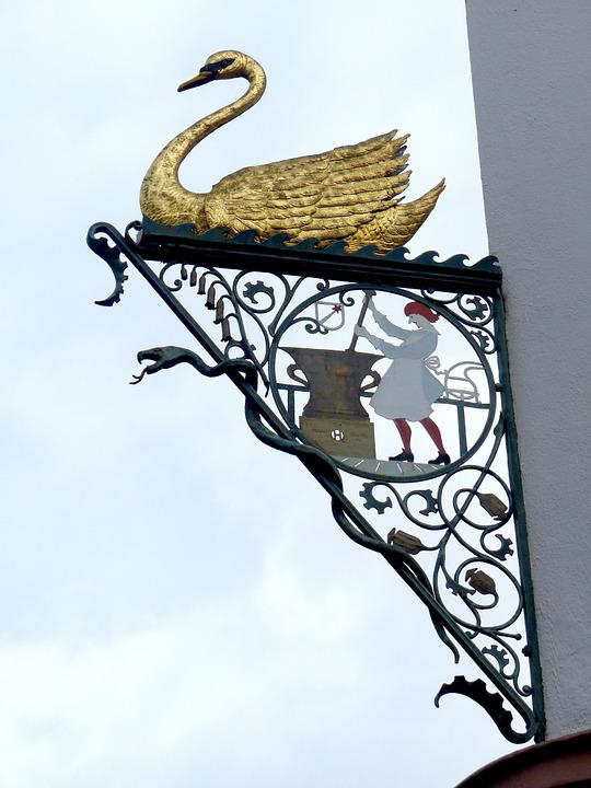 Shield, Swan Pharmacy, Colmar, Blacksmithing
