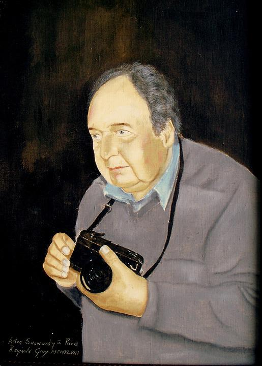 Anton, Swarowsky, Portrait, Reginald, Gray, Painting