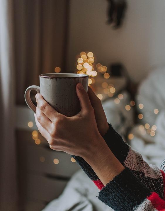 Coffee, Tee, Cup, Keep, Hand, Arm, Sweater, Cozy