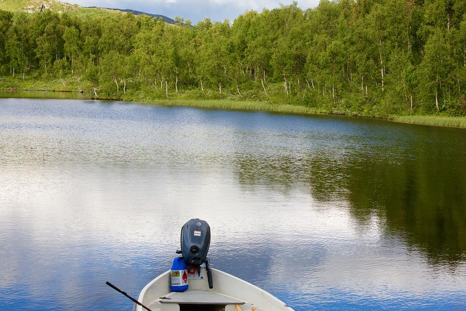 Nature, Boat, Lake, Landscape, Sweden, Calm