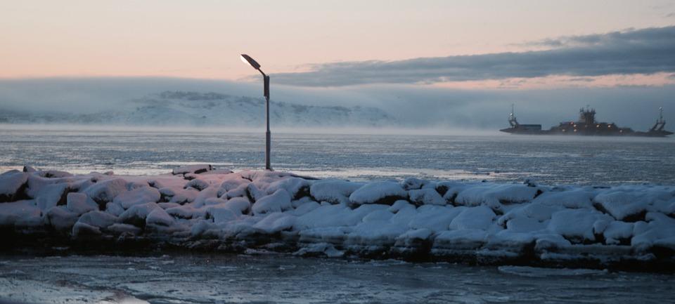 Coastal, Winter, Ferry, Sea, Snow, Travel, Sweden