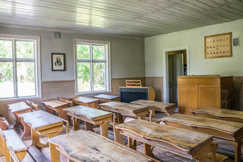 Classroom, Skansen, Stockholm, Sweden, Indoor