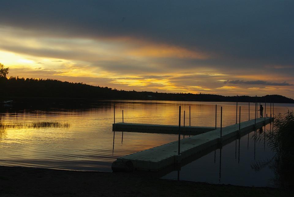 Sweden, Sunset, Landscape
